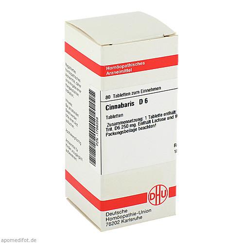 CINNABARIS D 6, 80 ST, Dhu-Arzneimittel GmbH & Co. KG