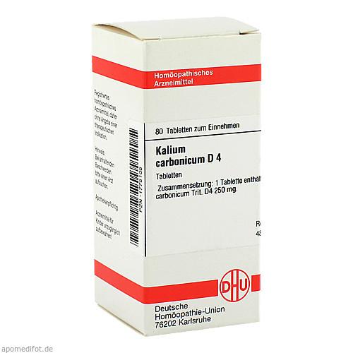 KALIUM CARB D 4, 80 ST, Dhu-Arzneimittel GmbH & Co. KG