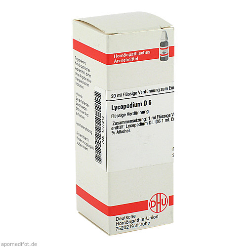 LYCOPODIUM D 6, 20 ML, Dhu-Arzneimittel GmbH & Co. KG