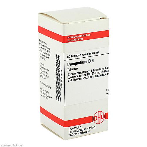 LYCOPODIUM D 4, 80 ST, Dhu-Arzneimittel GmbH & Co. KG