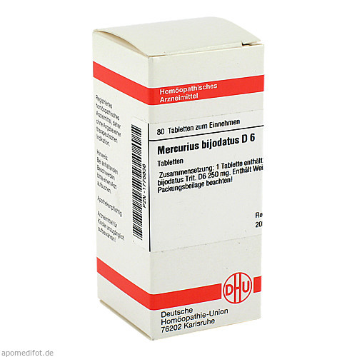 MERCURIUS BIJODAT D 6, 80 ST, Dhu-Arzneimittel GmbH & Co. KG