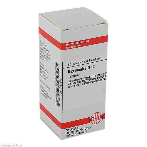 NUX VOMICA D12, 80 ST, Dhu-Arzneimittel GmbH & Co. KG