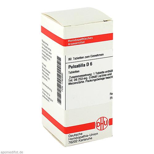 PULSATILLA D 6, 80 ST, Dhu-Arzneimittel GmbH & Co. KG
