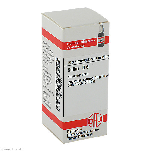 SULFUR D 6, 10 G, Dhu-Arzneimittel GmbH & Co. KG