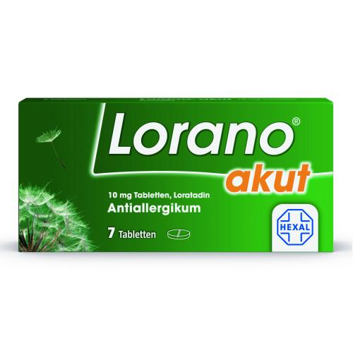 LORANO akut Tabletten, 7 ST, Hexal AG