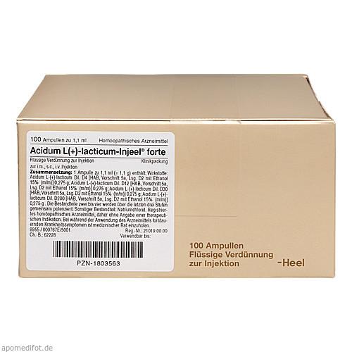 ACIDUM L LACTIC INJ FORTE, 100 ST, Biologische Heilmittel Heel GmbH