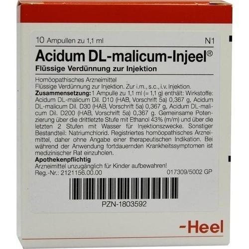 ACIDUM DL MALICUM INJ, 10 ST, Biologische Heilmittel Heel GmbH