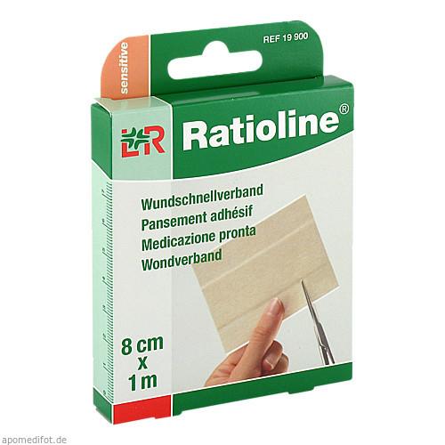 Ratioline sensitive Wundschnellverband 8cmx1m, 1 ST, Lohmann & Rauscher GmbH & Co. KG