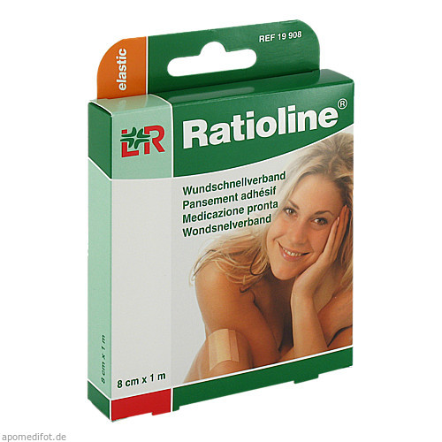 Ratioline elastic Wundschnellverband 8cmx1m, 1 ST, Lohmann & Rauscher GmbH & Co. KG