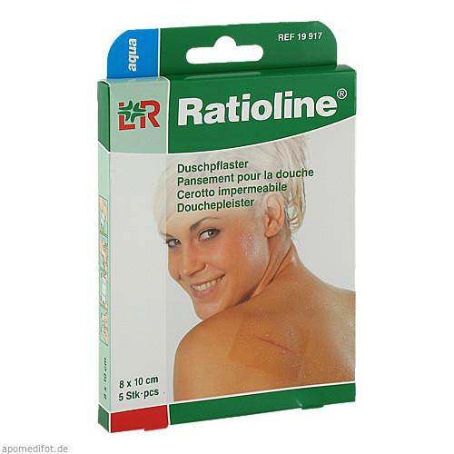 Ratioline aqua Duschpflaster 8x10cm, 5 ST, Lohmann & Rauscher GmbH & Co. KG