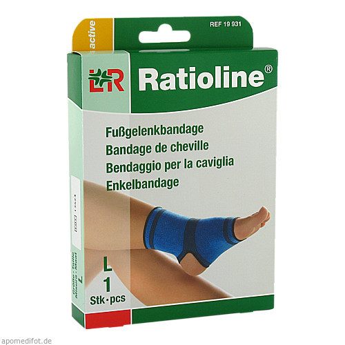 Ratioline active Fussgelenkbandage Größe L, 1 ST, Lohmann & Rauscher GmbH & Co. KG