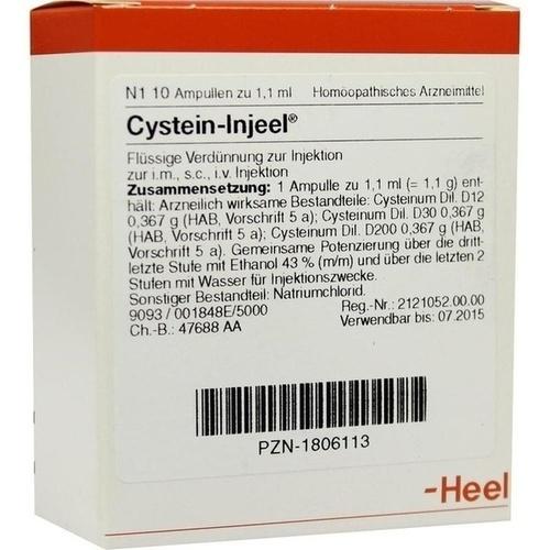 CYSTEIN INJ, 10 ST, Biologische Heilmittel Heel GmbH