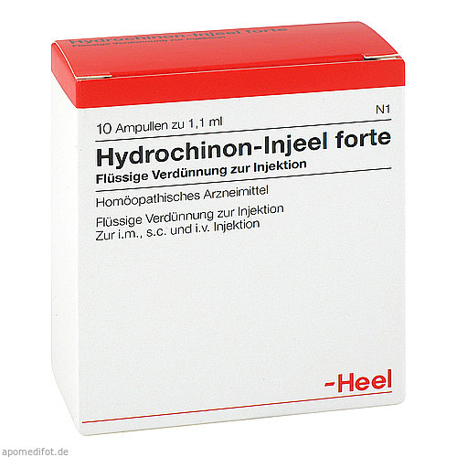 HYDROCHINON INJ FORTE, 10 ST, Biologische Heilmittel Heel GmbH