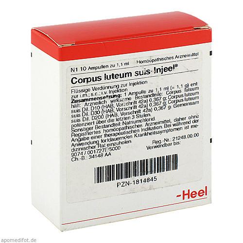 CORPUS LUTE SUIS INJ OR, 10 ST, Biologische Heilmittel Heel GmbH