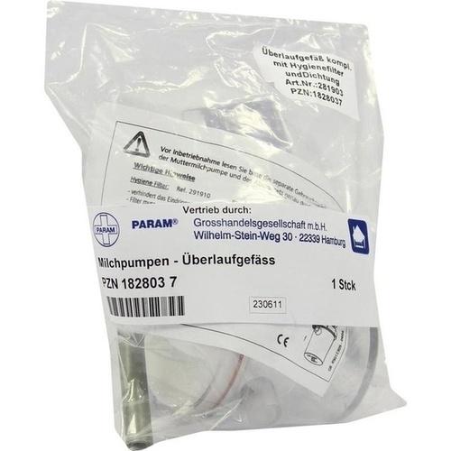 Überlaufgefäß mit Hygienefilter f elekt.Milchpumpe, 1 ST, Kaweco GmbH