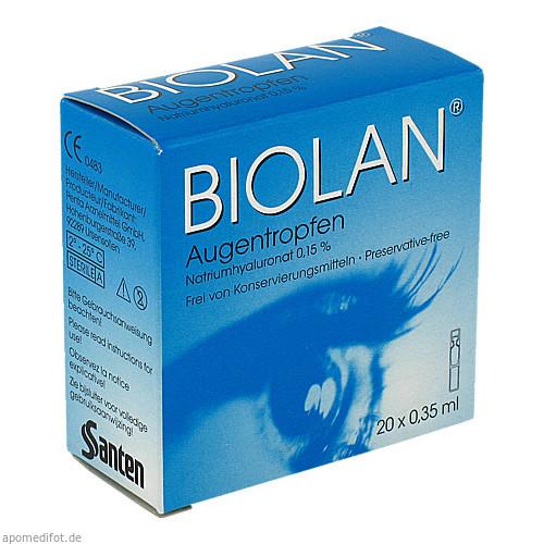 Biolan Augentropfen, 20X0.35 ML, Santen GmbH