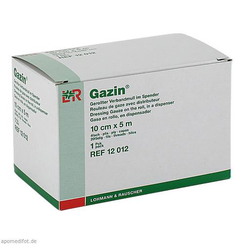 GAZIN Verbandmull gerollt im Spender 10cmx5m, 1 ST, Lohmann & Rauscher GmbH & Co. KG