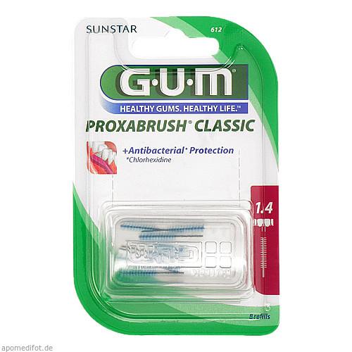 GUM PROXABRUSH Ersatzbürsten 0.7mm Kerz, 8 ST, Sunstar Deutschland GmbH