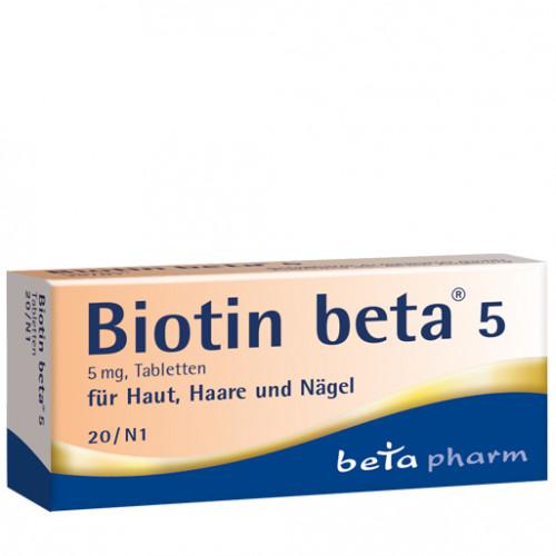 Biotin beta 5, 20 ST, betapharm Arzneimittel GmbH