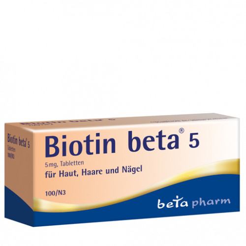 Biotin beta 5, 100 ST, betapharm Arzneimittel GmbH