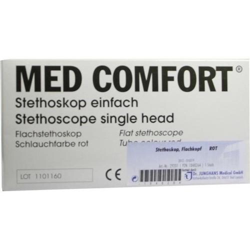 STETHOSKOP FLACHKOPF ROT, 1 ST, Dr. Junghans Medical GmbH