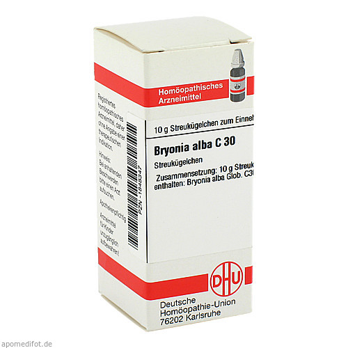 Bryonia alba C30, 10 G, Dhu-Arzneimittel GmbH & Co. KG
