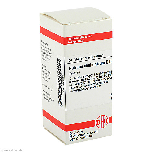 Natrium choleinicum D6, 80 ST, Dhu-Arzneimittel GmbH & Co. KG
