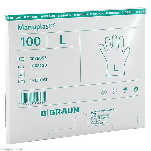 MANUPLAST EINM HAND HELL G, 100 ST, B. Braun Melsungen AG