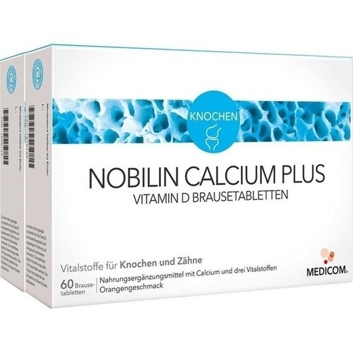 Nobilin Calcium Plus Vitamin D Brausetabletten, 2X60 ST, Medicom Pharma GmbH