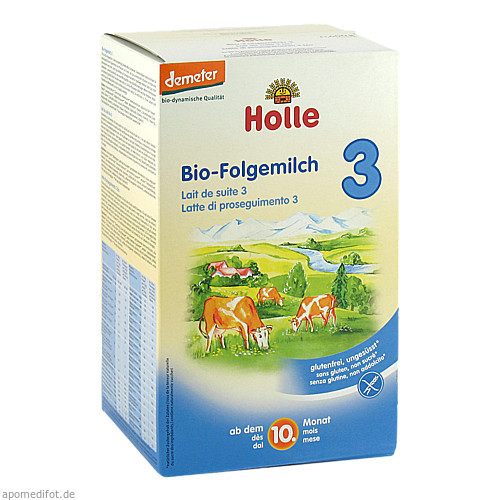Holle Bio Säuglings-Folgemilch 3, 600 G, Holle baby food GmbH