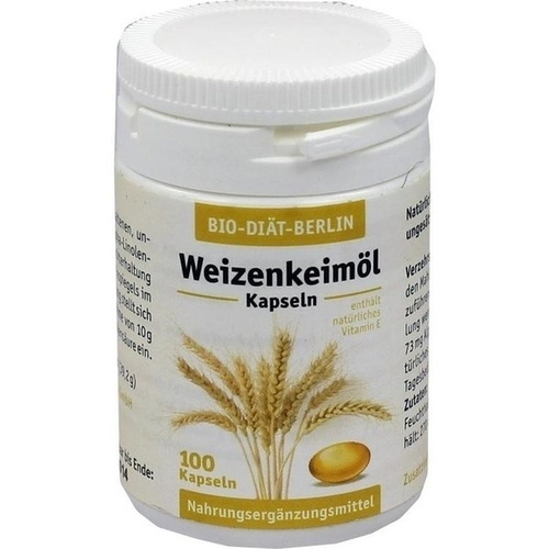 Weizenkeimöl-Kapseln BIO DIÄT, 100 ST, Bio-Diaet-Berlin GmbH