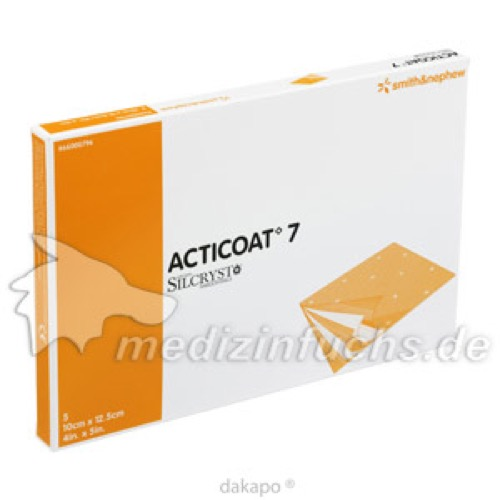 Acticoat 7 Antimikrobieller 7Tage Verb 10x12.5cm, 5 ST, Smith & Nephew GmbH