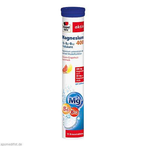 Doppelherz Magnesium 400 + B-Vitamine + Fols., 15 ST, Queisser Pharma GmbH & Co. KG