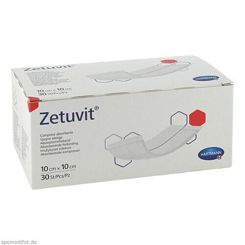ZETUVIT SAUGKOMPR UN 10X10, 30 ST, Paul Hartmann AG
