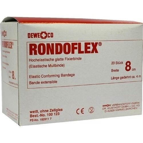 RONDOFLEX BINDE WEISS 20X8, 20 ST, DEWE+CO Verbandstoff-Fabrik Dr. Wüsthoff & Co.