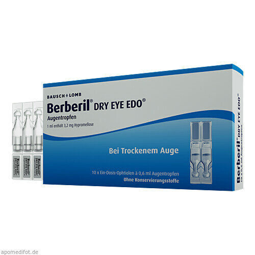 Berberil Dry Eye EDO, 10X0.6 ML, Dr. Gerhard Mann