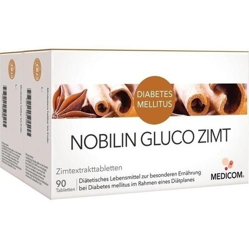 Nobilin GLUCO Zimt, 2X90 ST, Medicom Pharma GmbH