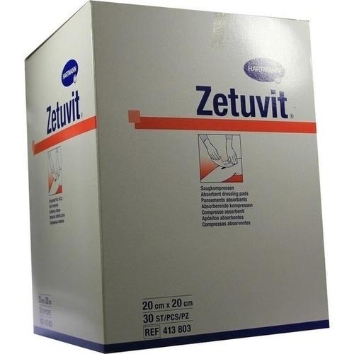 ZETUVIT SAUGKOMPR UN 20X20, 30 ST, Paul Hartmann AG