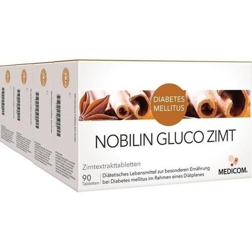 Nobilin GLUCO Zimt, 4X90 ST, Medicom Pharma GmbH