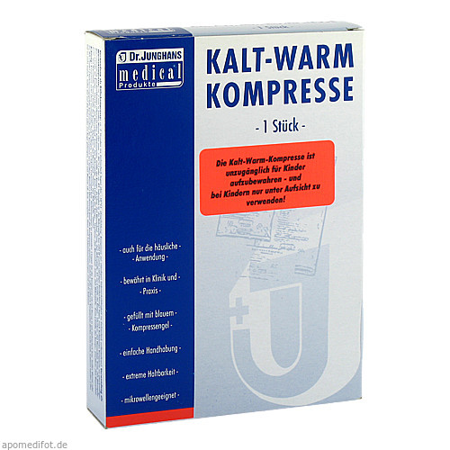 Kalt-/Warm Kompresse 13x14cm mit Vlieshülle, 1 ST, Dr. Junghans Medical GmbH