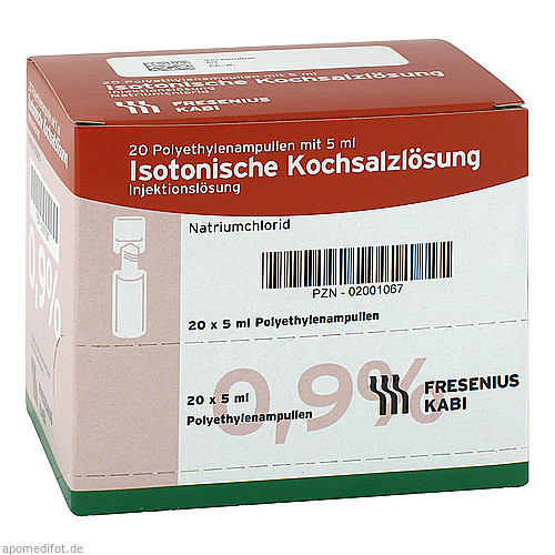 Isotonische Kochsalzlösung 0.9% (Plastikampulle), 20X5 ML, Fresenius Kabi Deutschland GmbH