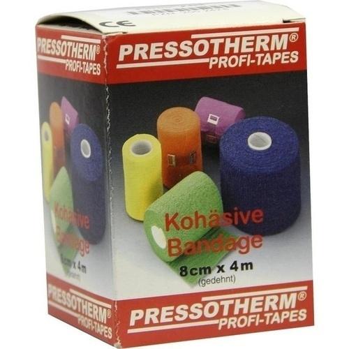 Pressotherm Kohäsive Bandage 8cmx4m rot, 1 ST, Abc Apotheken-Bedarfs-Contor GmbH