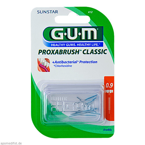 Gum Proxabrush Ersatzbürsten Kerze, 8 ST, Sunstar Deutschland GmbH