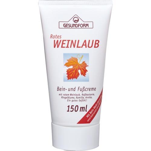 Gesundform Rotes Weinlaub Bein-und Fußcreme, 150 ML, Provita Apoth.Market.U.Handels GmbH