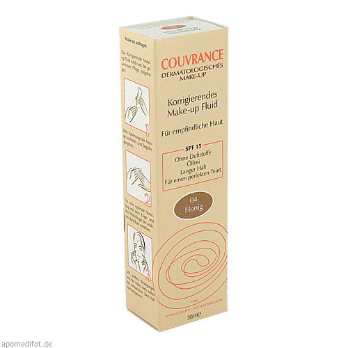 AVENE Couvrance Korrigier. Make-up-Fluid Honig 4.0, 30 ML, Pierre Fabre Pharma GmbH