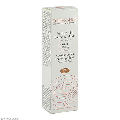 AVENE Couvrance Korrigier. Make-up-Fluid Bronze, 30 ML, PIERRE FABRE DERMO KOSMETIK GmbH GB - Avene