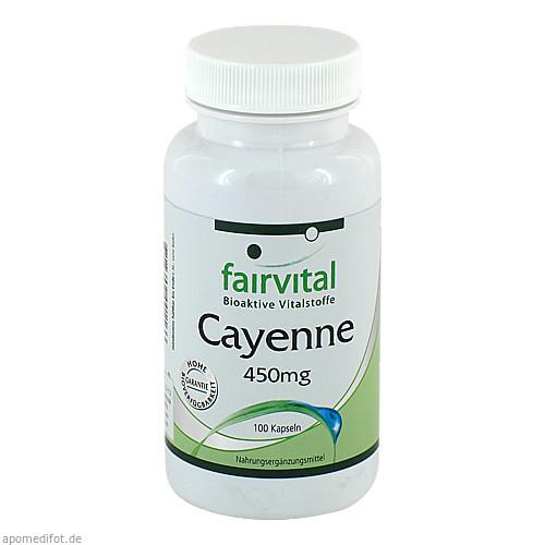 Cayenne 450mg, 100 ST, Fairvital B. V.