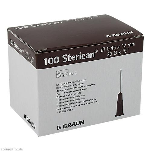 Sterican Ins.Einm.Kan. 26GX1/2 0.45X12mm, 100 ST, B. Braun Melsungen AG