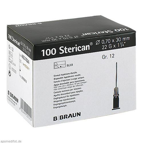 STERICAN 0.70X30 SCHW L L, 100 ST, B. Braun Melsungen AG