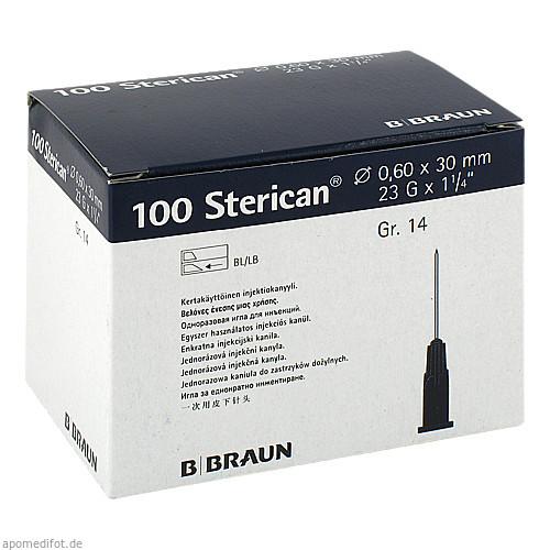 STERICAN 0.60X30 BLAU LL, 100 ST, B. Braun Melsungen AG